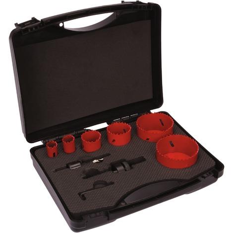 Kit complet trépan HSS bimétal 6 trépans - Spécial plombier - SCID