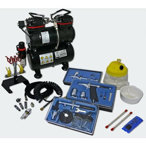 discount shop new lower prices various design Kit compresseur airbrush aérographe professionnel avec trois ...