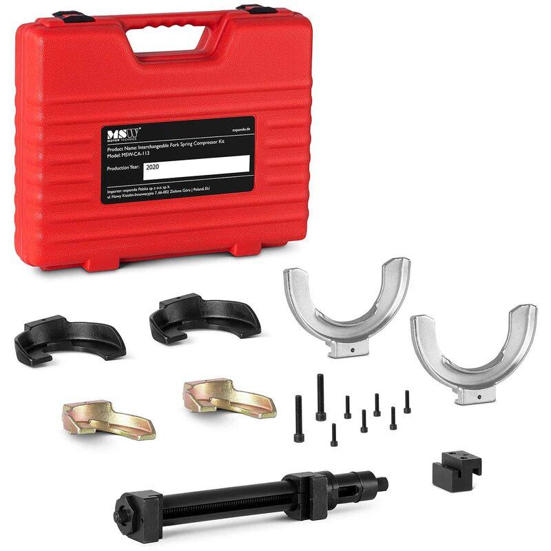 MSW - Kit Compresseur De Ressorts D'Amortisseurs Mc Pherson Comprime Ressort 80-195 mm