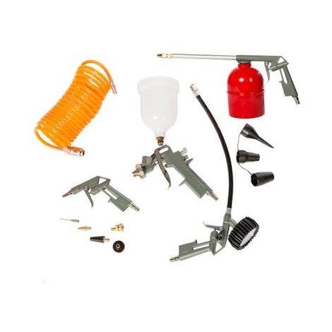 Kit compressore aria - 13 pezzi utensili e accessori