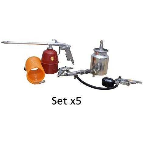 Kit Compressore Kit 5 Accessori Aria Compressa Aerografo Professionale Set 5 PZ