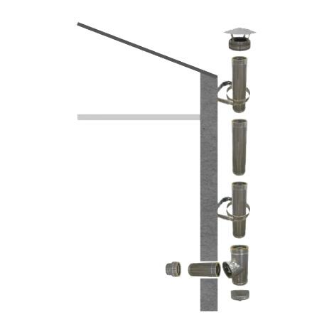 Kit conduit isolé Ø 150 mm en extérieur - 3m