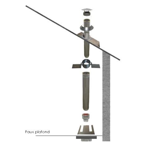 Kit conduit isolé Ø 150 mm en intérieur - 2m