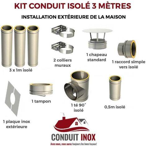 KIT CONDUIT ISOLE EN EXTERIEUR - 3 MÈTRES
