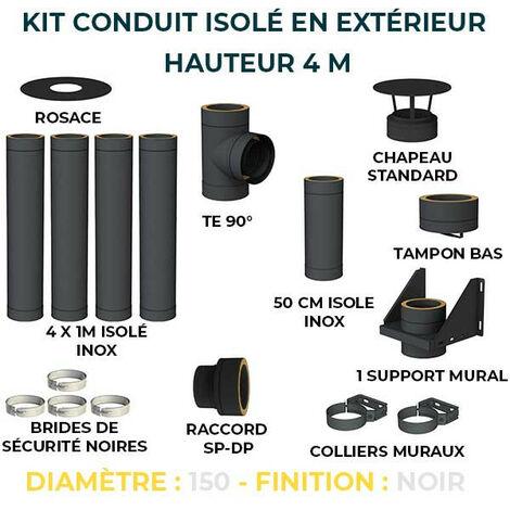 KIT CONDUIT ISOLE EN EXTERIEUR - 4 MÈTRES