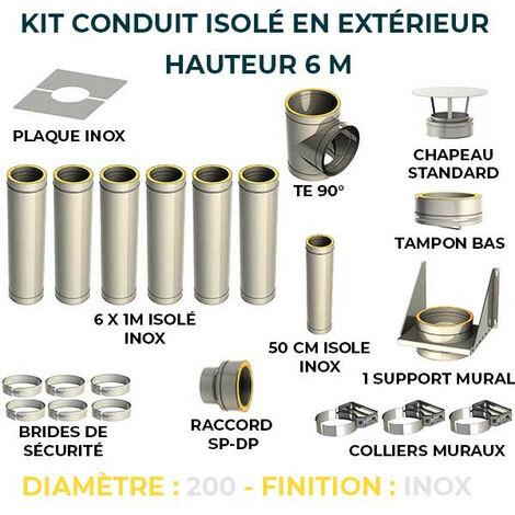 KIT CONDUIT ISOLE EN EXTERIEUR - 6 MÈTRES