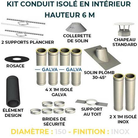 KIT CONDUIT ISOLE EN INTERIEUR - 6 MÈTRES