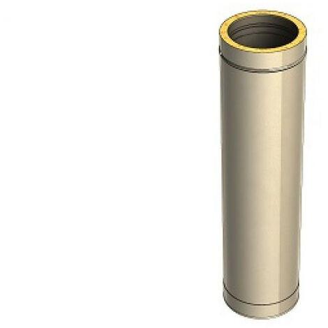 Kit Conduit isolé extérieur INOX pour appareil à granulés | 2 Eléments supp de 1000mm