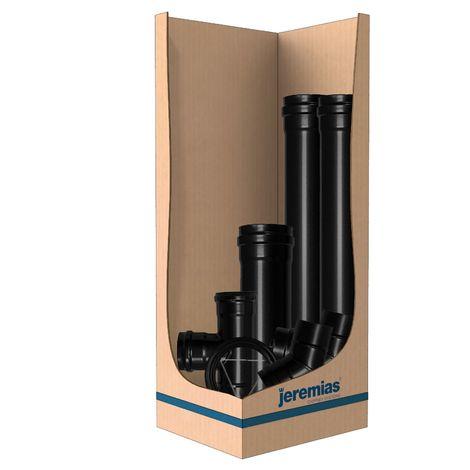 Kit Conduit raccordement évacuation verticale avec element télescopique