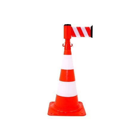 Kit cône avec dérouleur 100mmx3m Rouge/Blanc - 2830263