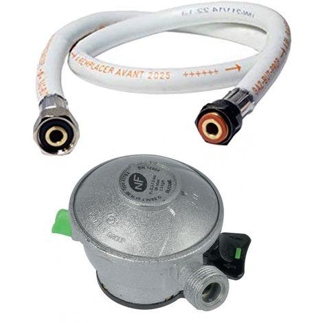Kit connection gaz - tuyau 1.50m + détendeur butane D27mm