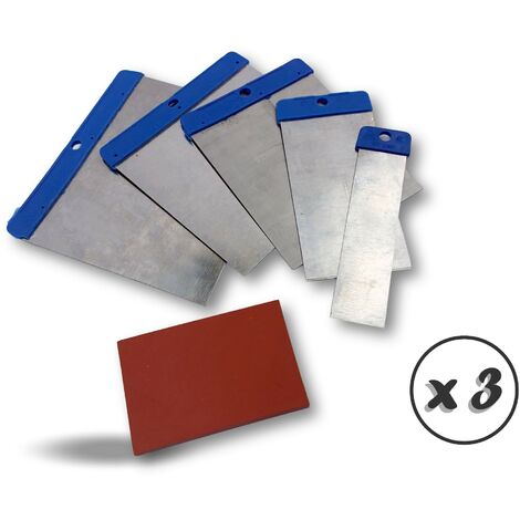 Kit couteaux de carrossier | Cale caoutchouc à poncer - Quantité x 3 - Cale caoutchouc