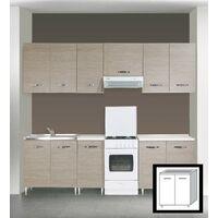 Kit cucina base sotto lavello 80x50x85h 2 ante finitura larice grigio - Capaldo
