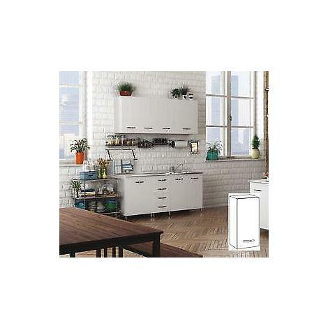 Pensile per cucina componibile bianco frassinato Cm 30x30xH 72 1 anta