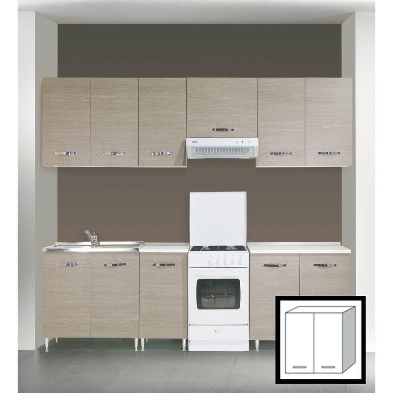 Kit cucina pensile 2 ante 80x30x72h finitura larice grigio - Capaldo ...
