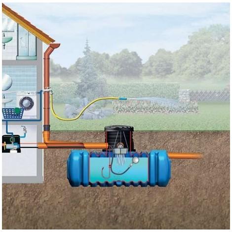 Canalización de agua y depósito