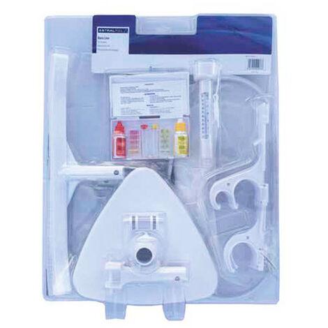 Kit d'accessoires de nettoyage pour piscine - Blanc