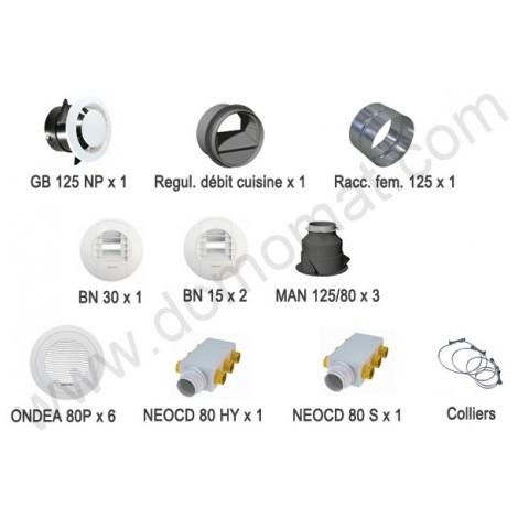 Kit d'accessoires d'installation pieuvre pour VMC double flux Optimocosy HR