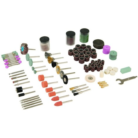 Kit d'accessoires pour outil rotatif, 216 pcs Tige de 3,17 mm