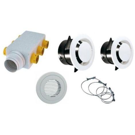 Kit d'accessoires pour VMC Atlantic Primocosy HR BP- Double Flux - 7 piquages - Blanc