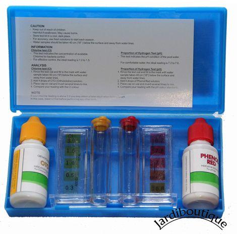 Kit d'analyse de l'eau de votre piscine - Teste d'eau piscine