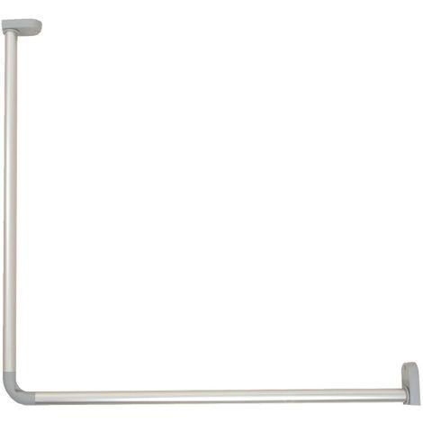 "main image of ""Kit porte-rideau d'angle en aluminium"""