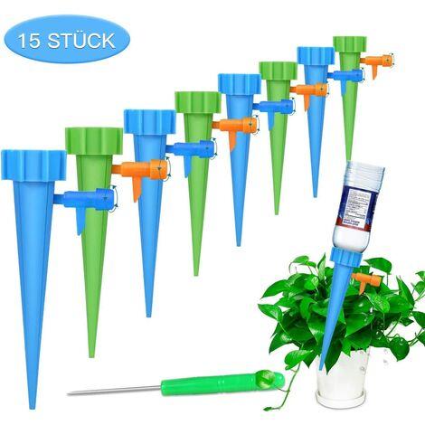 Kit d'arrosage automatique 15 pièces Inréglable Système d'irrigation facile pour arroser les plantes de jardin fleurs terreau d'intérieur