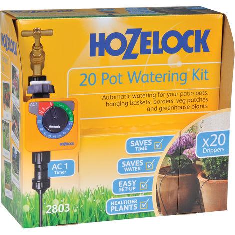 Kit d'arrosage automatique pour 20 pots avec programmateur AC PLUS - 2803 0000