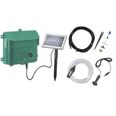 Kit d'arrosage solaire avec batterie, panneau, pompe, tuyau, buses, etc.Esotec