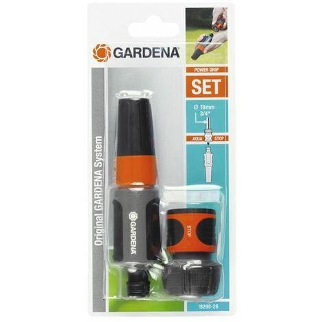 """Kit d'arrosage tuyaux 19 mm 3/4"""" 1 raccord Aquastop et 1 lance d'arrosage GARDENA - 18290-26"""