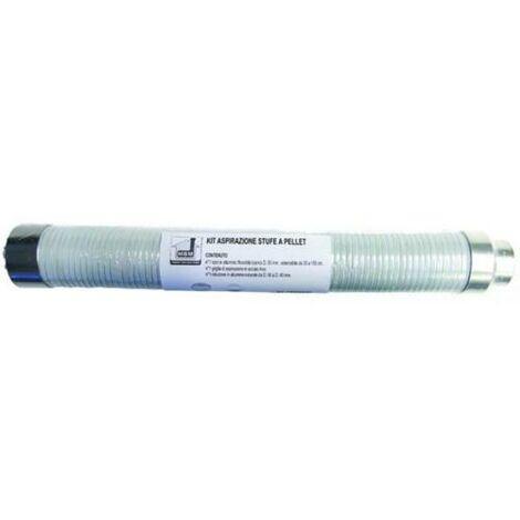 Kit d'aspiration tuyau poêle à pellets dn 50 150 souple à granulés de combustion de la cuve extensible