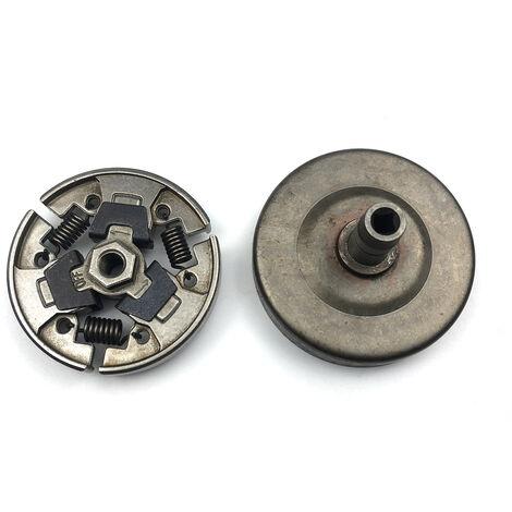 Kit d'assemblage de tambour d'embrayage de remplacement pour pieces de tondeuse Stihl FS80 FS85 FC80 FC85 HT70 HT75 41371602001,modele:Couleur En Metal
