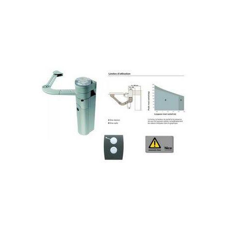 Kit d'automatisation bras articulé portail 1 battant env. 1,8m WALKY KIT Nice - WALKY1024KCE.