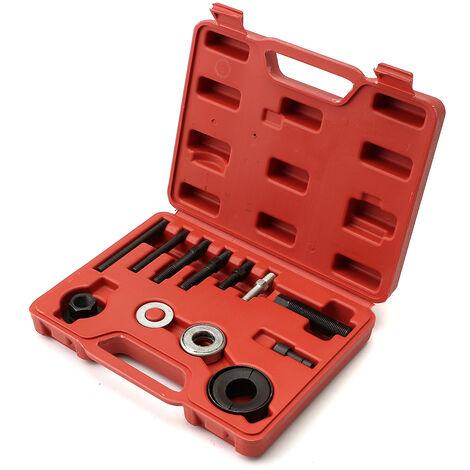 Kit de 12 piezas, herramienta de bloqueo de rueda libre de polea de alternador para volante de coche automático