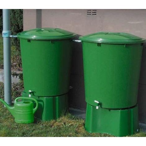 Kit de 2 cuves à eau 510 L coloris vert - Dim : H 110 x D 100 cm