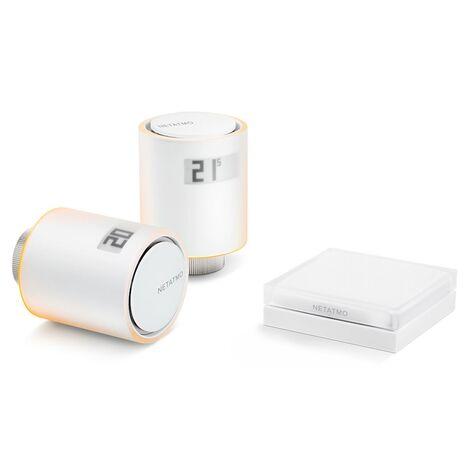 Kit de 2 vannes thermostatiques + relais - Netatmo - Blanc