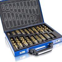 Kit de 235 forets professionnels bois et métal 230 TLG Bleu