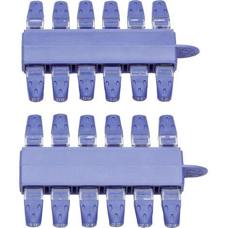 Kit de 24 identificateurs RJ45 (#1 à #24) IDEAL Networks VDV II RJ45-KIT