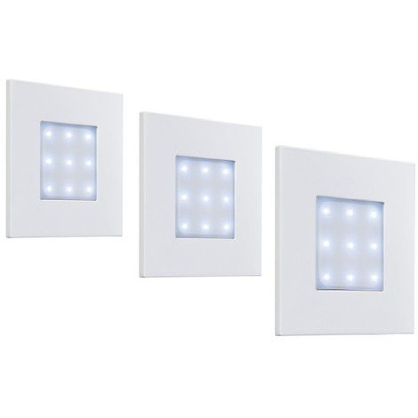 Kit de 3 carreaux cadre blanc LED 3X4W 6500K à encastrer cable 5m transfo 3,2V pour carrelage IP65 BIRMINGHAM PHILIPS 599233181
