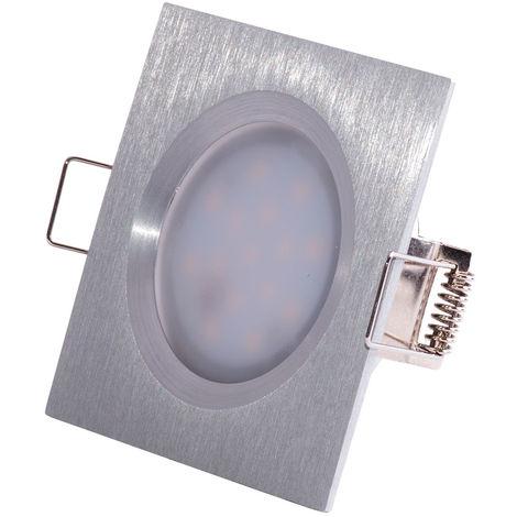 Kit de 3 spots encastrés LED Coin Slim - Alu tourné - 6.8W - 2700K - IP44 - Dimmable - Avec ampoule