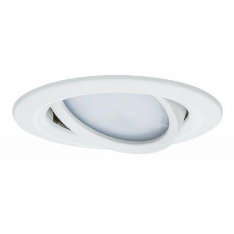 Kit de 3 spots encastrés LED Coin Slim orientable - Alu tourné - 6.8W - 2700K - IP23 - Dimmable - Avec ampoule
