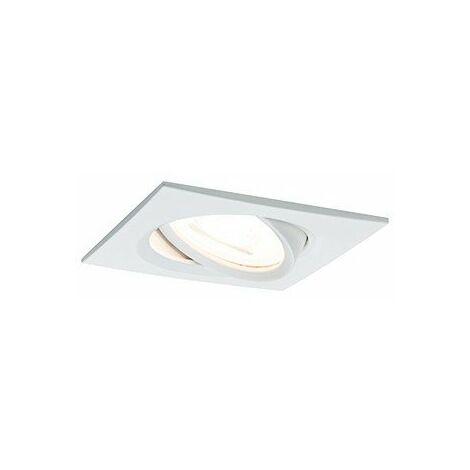 Kit de 3 spots encastrés LED Nova - Carré - GU10 - Aluminium - 6,5W - 2700K - IP23 - Avec ampoule