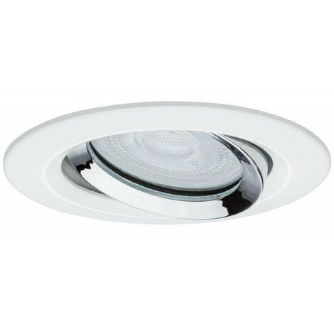 Kit de 3 spots encastrés LED Nova orientable - Acier brossé - 7W - 2700K - IP65 - Dimmable - Avec ampoule