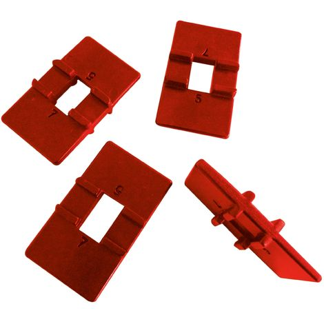 Kit de 4 cales réversibles 4/6 mm Rouge - Mob/Mondelin