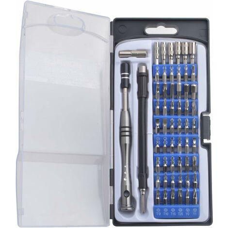 Kit de 57 pieces Embouts pour Tournevis de Précision Magnétique Multi-fonction Outils Reparation de avec 54 Embouts Idéal pour Mobile Ordinateur Smartphone, Laptop, Montre, Jouets, Lunettes