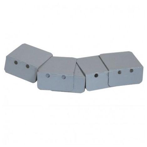 kit de 7 arrêts laqués de plaque pour profilé vissable modulable 16/32 mm (3 coloris)