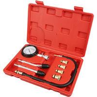Kit de 8 testeur de compression compressiomètre moteur essence cylindre
