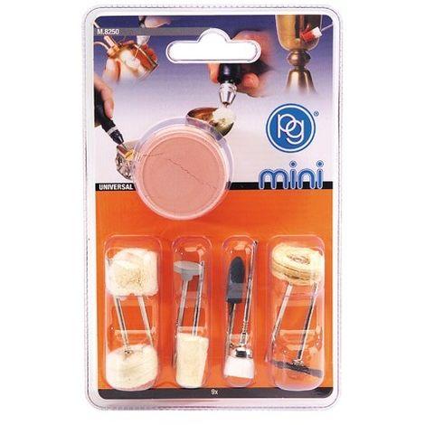 Kit de 9 accesorios para pulir y limpiar