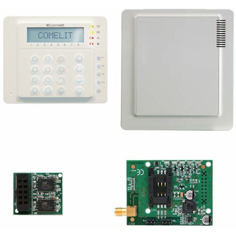 Kit de alarma de Comelit Vedo10 con GSM,Central,Teclado VEDO10GSM