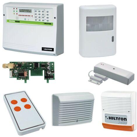 Kit de alarma XR Hiltron a través de la central de radio Protec8GSM y accesorios KXR8GSMA